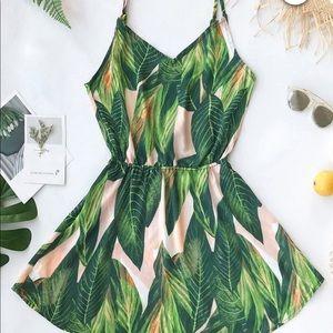 Cupshe banana leaf dress
